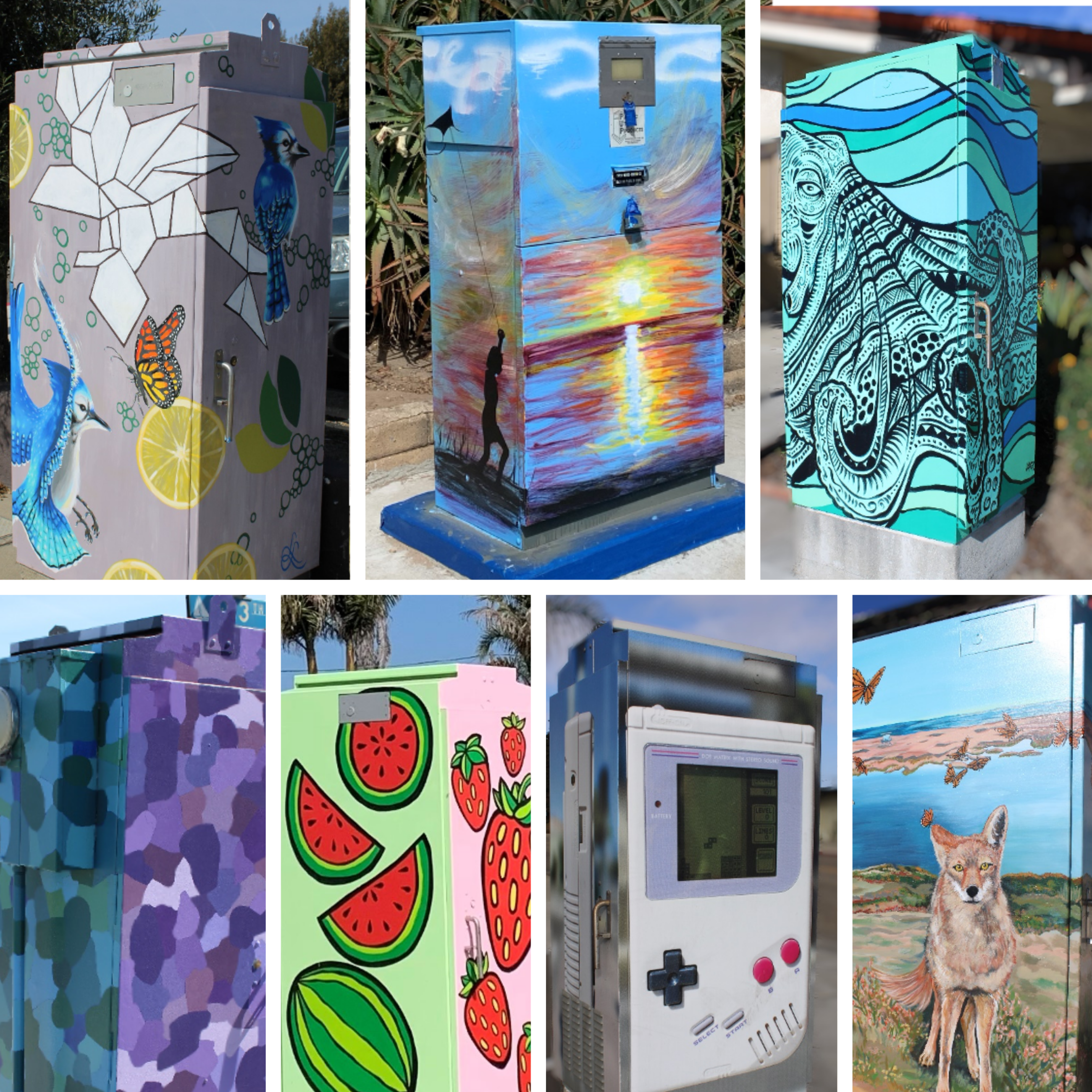 Utility Box Art Collage